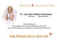 Praxis-Infomappe - Dr. med. dent. Wolfram Olschowsky