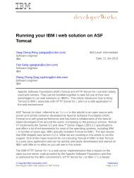 Running your IBM i web solution on ASF Tomcat