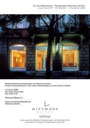 Pressemappe Neue Räume 09 - Wiesmann Küchen