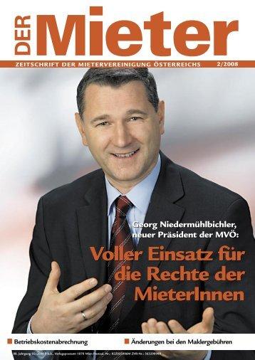 01_COVER ok kk.m indd .indd - Mietervereinigung Österreichs