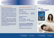 Intraorale Protrusionsschienen in der Behandlung von Schlafapnoe ...