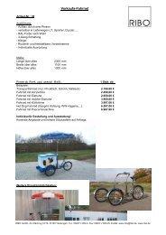 Verkaufs-Fahrrad - Ribo GmbH