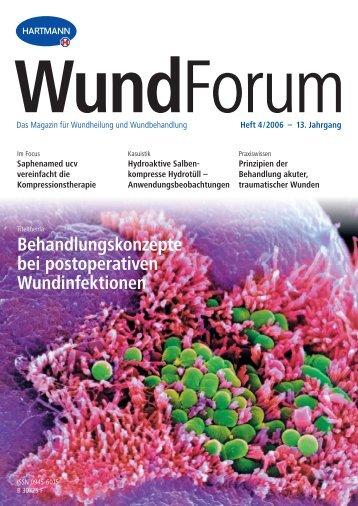 Heft 4/2006 – 13. Jahrgang WundForum - Hartmann - Paul Hartmann AG