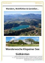 WW - KÄ - Klopeiner See - WM Reisen