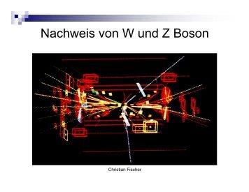 Nachweis von W und Z Boson