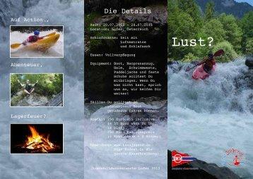 Ausschreibungsflyer Lofer 2013 - Deutsche Kanujugend