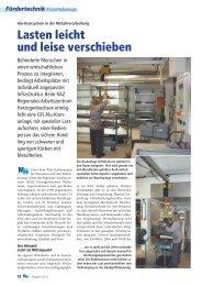Pressebericht: Lasten leicht und leise verschieben - Gis AG