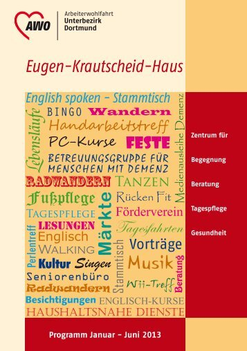 EKH-Programm 1. Halbjahr 2013 als PDF - AWO Westliches Westfalen
