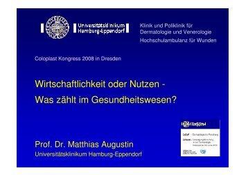 Wirtschaftlichkeit oder Nutzen - Universitätsklinikum Hamburg ...