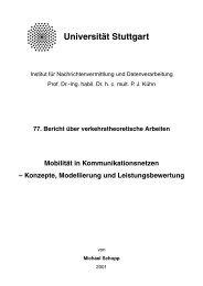 Institut für Kommunikationsnetze und Rechnersysteme - Universität ...