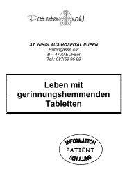 Gerinnungshemmer - St. Nikolaus-Hospital Eupen