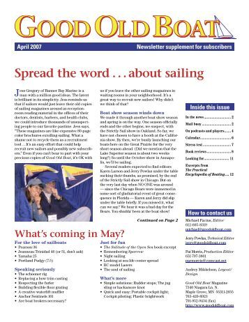 Spread the word . . . about sailing - Good Old Boat Magazine