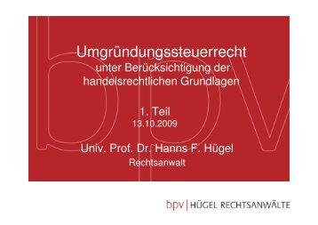 UmgrStR 1. Teil A B Grundlagen.pdf - bpv Hügel Rechtsanwälte