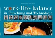 Work-life-balance in Forschung und Technologie - w-fFORTE