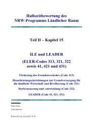 Teil II Integrierte ländliche Entwicklung und LEADER