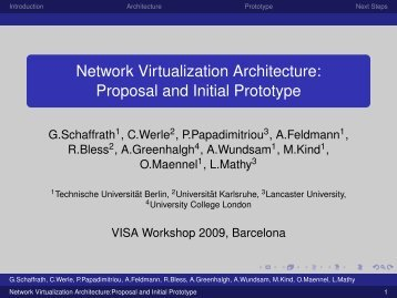 network architecture proposal A practical proposal for using origin - upcommons - upcommons paper reviews some of the time-slicing approximations used in practice to of traffic models in helping.