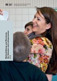 W eiterbildung und Beratung für S c hulen - Fachhochschule ...