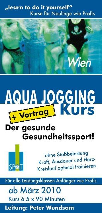 Aqua Jogging Flyer AJ38 - Wien Energie Blog