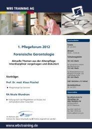 1. Pflegeforum 2012 1 - WBS Training AG