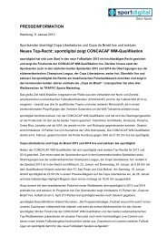 sportdigital zeigt CONCACAF WM-Qualifikation