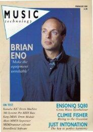 ENSONIQ SQ80 CLlMIE FISHER JUST INTONATION - Brian Eno