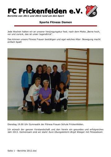 der sportliche Bericht in .pdf - FC Frickenfelden