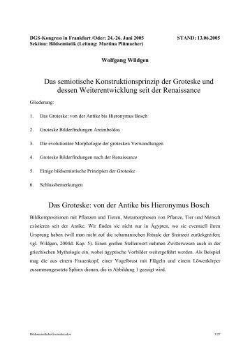 DGS-Tagung Frankfurt/Oder 24.06.2005 - Universität Bremen