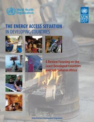 THE ENERGY ACCESS SITUATION IN DEVELOPING COUNTRIES