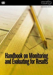 Handbook on Monitoring and Evaluating for Results