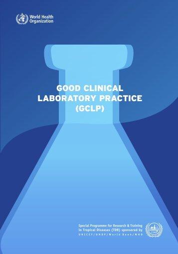 good clinical laboratory practice (gclp) - World Health Organization