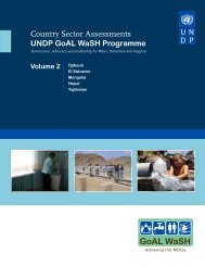 Country Sector Assessments UNDP GoAL WaSH Programme, Vol