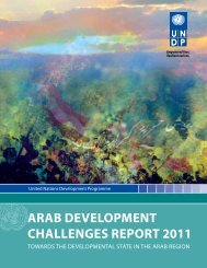 ArAb DeveloPmeNt ChAlleNges rePort 2011 - Arab States