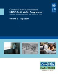 Tajkistan - Water Governance Facility
