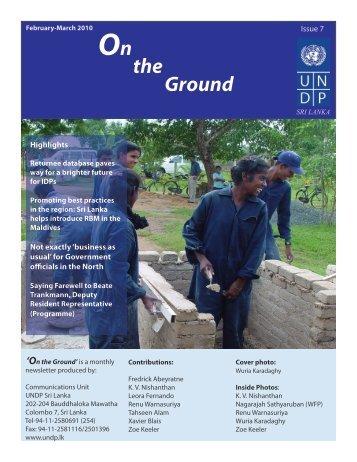 On the Ground-Issue 7 - UNDP