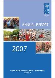 UNDP Indonesia Annual Report 2007