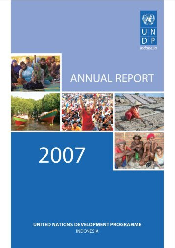 UNDP Indonesia Annual Report 2007