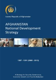 Afghanistan National Development Strategy (ANDS) - UNDP ...