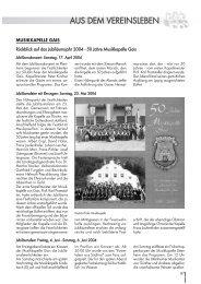 Ausgabe 01/2005 Aus dem Vereinsleben (Seite 87