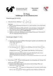Geometrie erleben 10. Übung Abbildungen im Koordinatensystem
