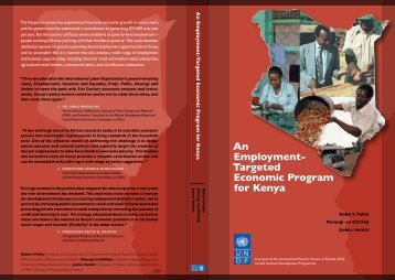 An Employment- Targeted Economic Program for Kenya