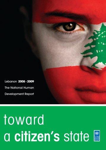 J09-1992 BOOK UNDP FULL REPORT - UNDP in Lebanon