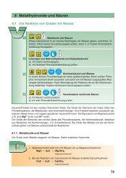 8 Metallhydroxide und Säuren