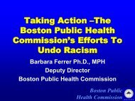 Taking Action – One Health Departments' Efforts To Undo Racism