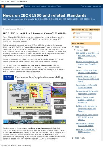News on IEC 61850 and related Standards - NettedAutomation