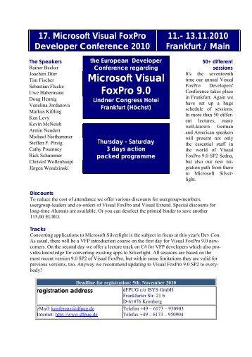Microsoft Visual FoxPro 9.0 - dFPUG-Portal