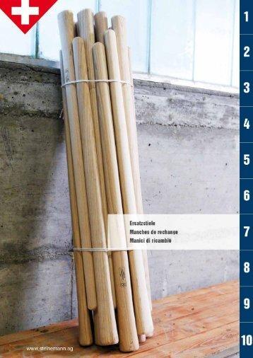 Catalogo manici di ricambio 2012 - Steinemann AG