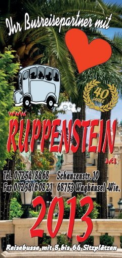 Reisekatalog 2013 - Busreisen Ruppenstein