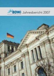Jahresbericht 2007 BDWi