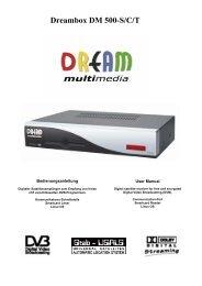 User Manual DM 500 - Dream Multimedia