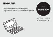 PW-E430 - Sharp Electronics Europe GmbH